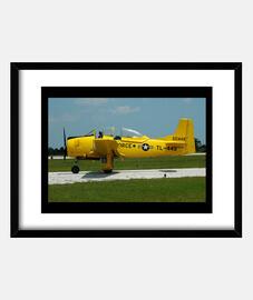 Póster Avión Amarillo