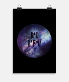 Poster, Bad Karma