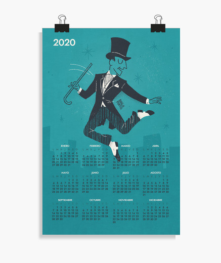 Póster Calendario 2020 Fred Astaire