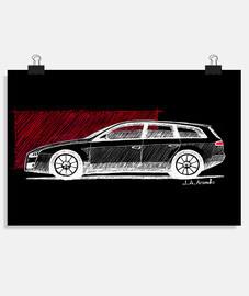 Póster con el dibujo del Alfa Romeo 159
