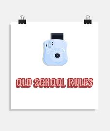 Póster cuadrado Fotografía Old School  (40 x 40 cm)