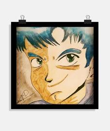 Póster cuadrado Manga boy