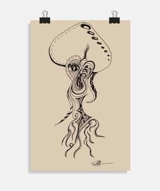poster di funghi psichedelici