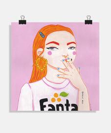 poster fanta- cuadrato 1: 1 - (40 x 40 cm)