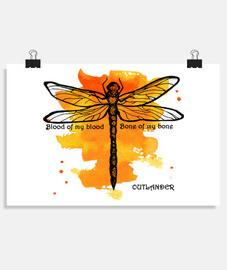 Póster horizontal Outlander libélula