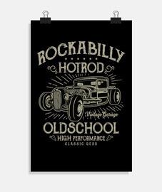 Poster Hotrod Rockabilly Music Vintage Rockers USA