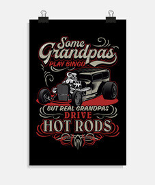 Póster Hotrod Rockabilly Style Vintage American Classic Cars USA