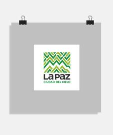 Poster La Paz ciudad del cielo