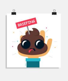 poster merde briefing - différentes tailles et formats -