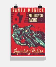 Póster Motorismo Motor Bikers 1967