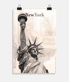 Poster New York Estatua de la Libertad