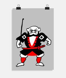 Poster Ninja folklore Japon