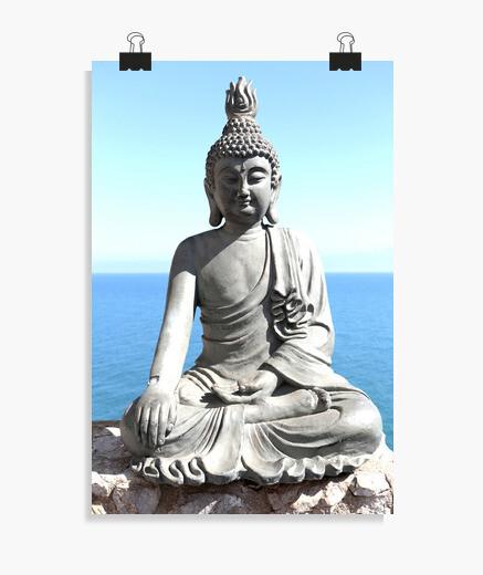 Póster Poster Buda de piedra