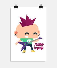 Póster Punks not dead