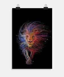 Póster vertical 2:3 - (20 x 30 cm) leon
