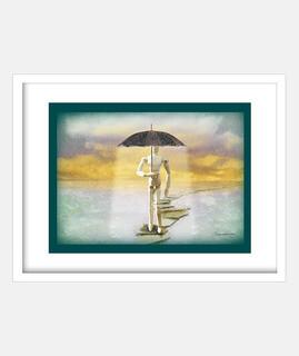 poupée sous la pluie