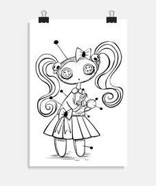 poupée vaudou - affiche verticale