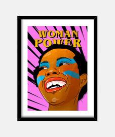 power woman - cadre avec cadre noir vertical 3: 4 (15 x 20 cm)