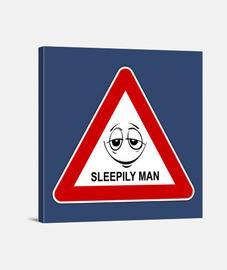Precaución: hombre adormilado