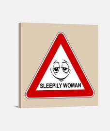 Precaución: mujer adormilada