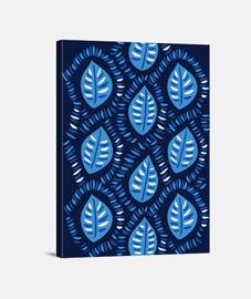 Pretty Decorative Blue Leaves Pattern