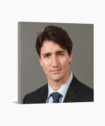 Lienzo Primer Ministro de Canadá Justin Trudeau