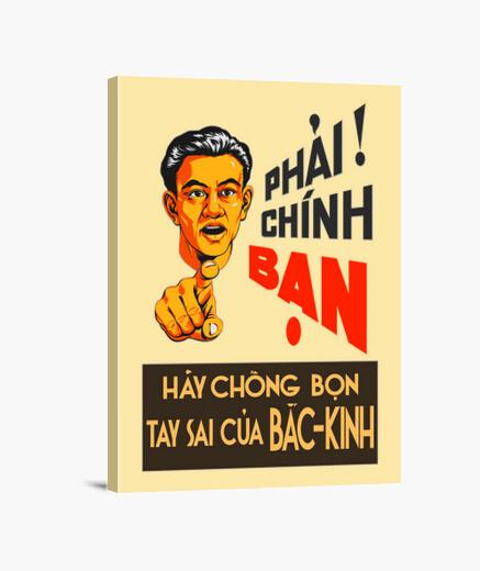 Lienzo Propaganda Vietnamita. Esbirros