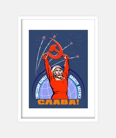 propagande soviétique and a Youri Gagar