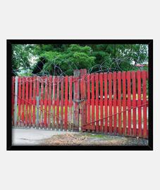 Puerta alambrada