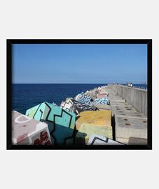 Puerto de Llanes - Cuadro con marco horizontal 4:3 (40 x 30 cm)