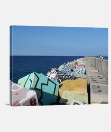 Puerto de Llanes - Lienzo Horizontal 4:3 - (40 x 30 cm)