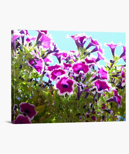 Purple flowers canvas