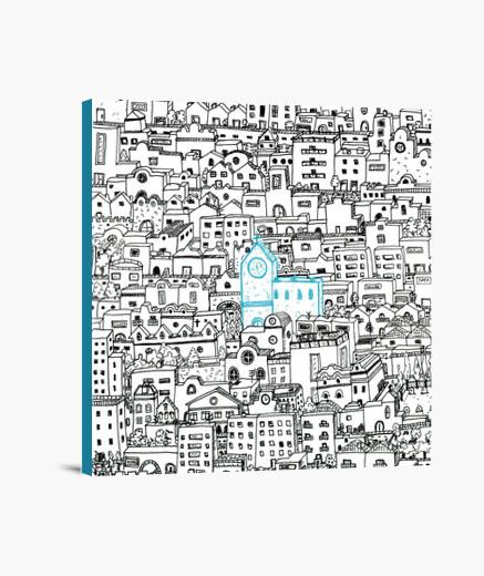 """City"" Lienzo Cuadrado 1:1 - (40 x 40 cm)"