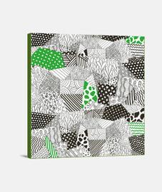 """""""Geometrics"""" Lienzo Cuadrado 1:1 - (40 x 40 cm)"""