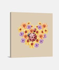 Ramo de flores, Lienzo Cuadrado 1:1 - (40 x 40 cm)