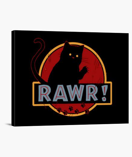Rawr canvas