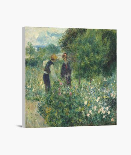 Lienzo Recolecta de flores (1875)