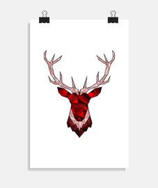 red hipster deer