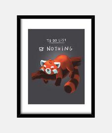 Red panda days print