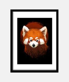 Red panda sunset print