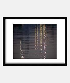 reflets dans l'eau du port