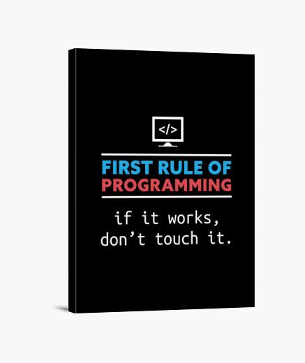 Stampa su tela regalo di programmazione...