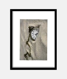 Reloj de bolsillo en arena