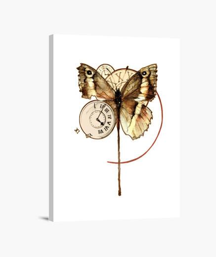 Lienzo Relojes de mariposa