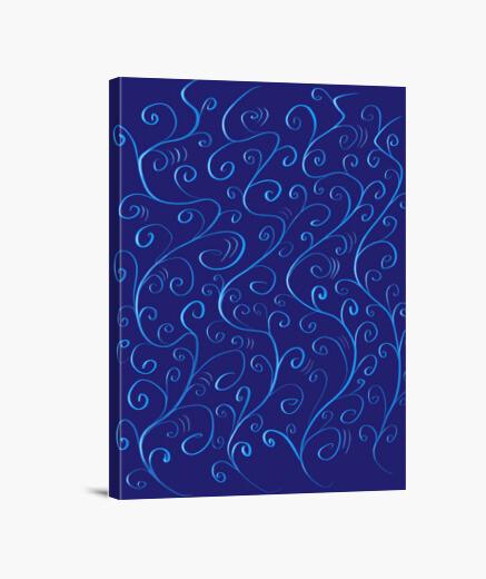 Lienzo remolinos hermosos azules brillantes