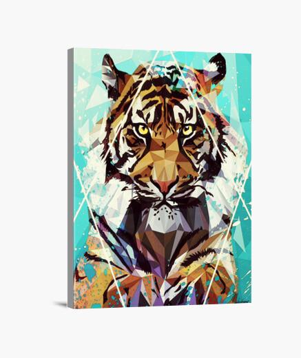 Lienzo reproducción impresa de la lona que tigre
