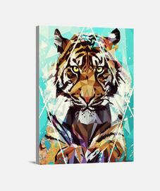 reproducción impresa de la lona que tigre