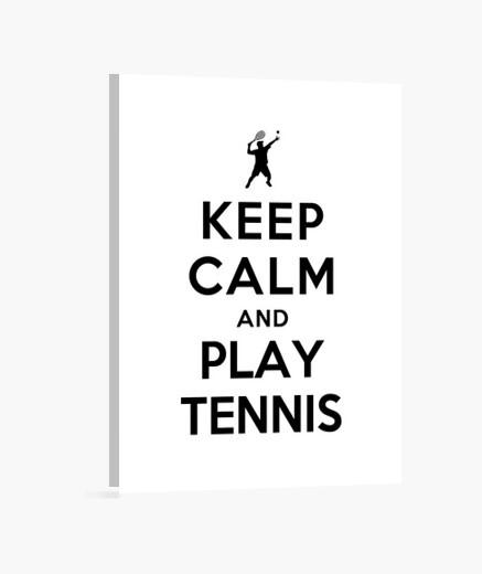 Tableau rester calme et jouer au tennis