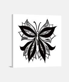 Resumen mariposa en puntos tinta dibujo