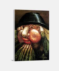 Retrato con verduras